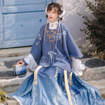 Chi Xia: Yuxue Xiangming short shirt pleated skirt waist-length Super fairy original improved Chinese clothing womens full set of autumn and winter