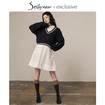 Sellynear maternity spring suit fashion model 2020 new college wind age reduction knitting sweater two sets