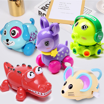 Spring new men and women children on the chain strength infant child frog 01-2 crawling one year old baby toys puzzle animal
