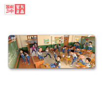 Tea two Chinese oversized mouse pad edge locking cute anime computer desk mat