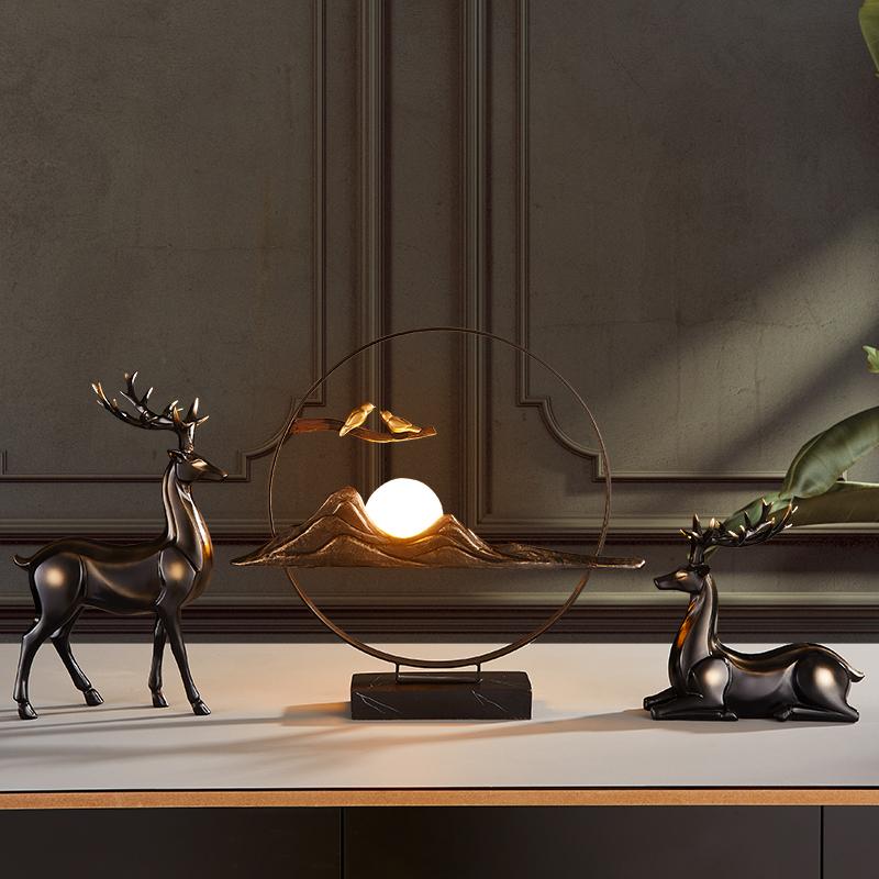 Handmade light luxury move Joe move new home gift creative home living room Xuanguan TV cabinet decoration Nordic ornaments