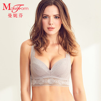 Manifen Comfortable no steel ring clip cotton short vest sexy beautiful back hundred bra underwear female thin breathable
