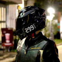 Ai Lion safety men and women electric motorcycle helmet full helmet electric car personality four seasons summer Bluetooth unveiling locomotive