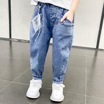 Мальчики брюки весна осень 2020 новый детский воздух случайные брюки корейская версия весна брюки джинсы красивый прилив