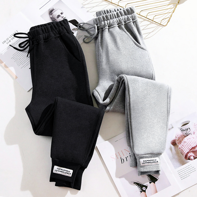 Sweatpants women loose autumn winter 2020 new models show thin-skinned Harlan pants plus plus-thick leggings casual thick cotton pants