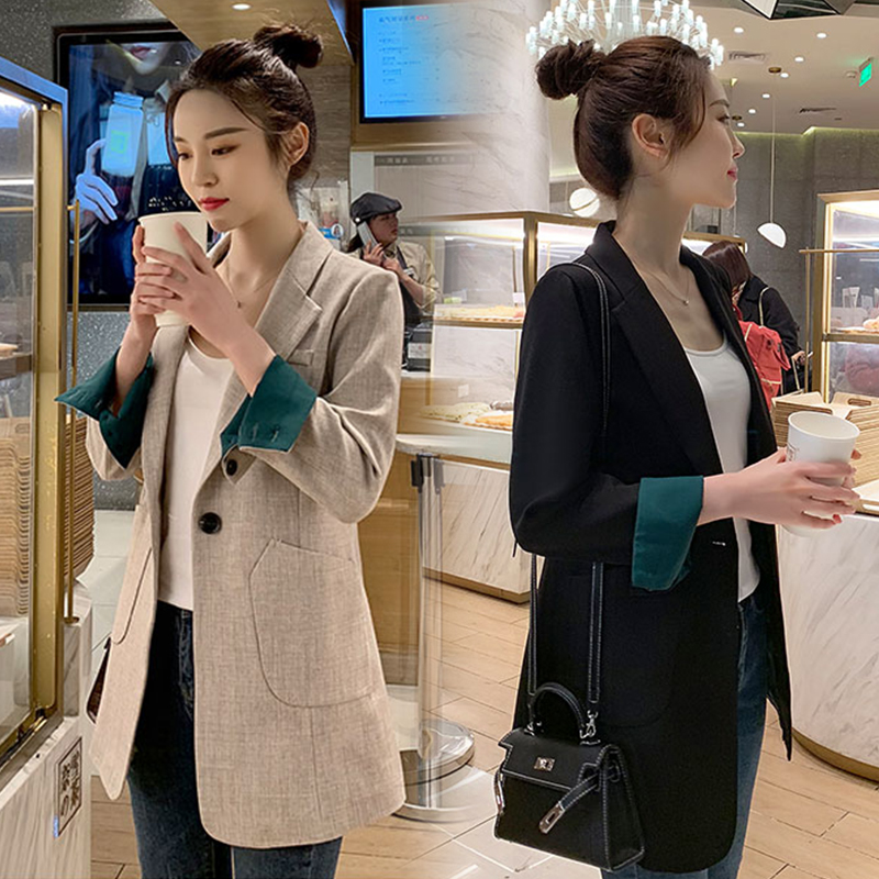 Small blazer women 2021 net red new spring and autumn Korean version thin loose casual wild early autumn suit top