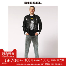Pre-sale Diesel2018 autumn and Winter new mens classic sheepskin jacket mens leather 00sh280eatq