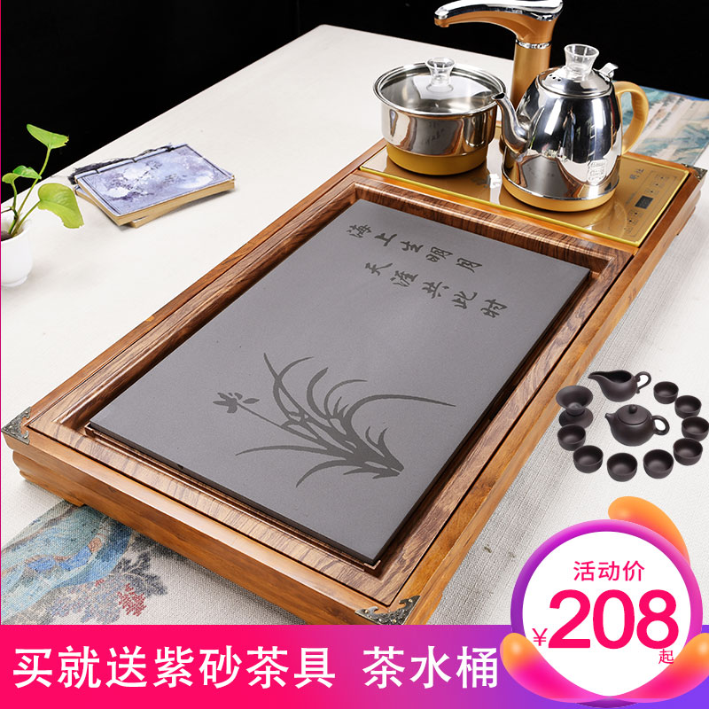 Xia Wei fully automatic water stove electric kettle kettle set drinking tea plate solid wood drainage tea table tea ceremony
