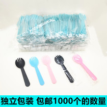 Cake fork spoon disposable fork cake tableware mousse spoon West point dessert spoon separate packaging 1000