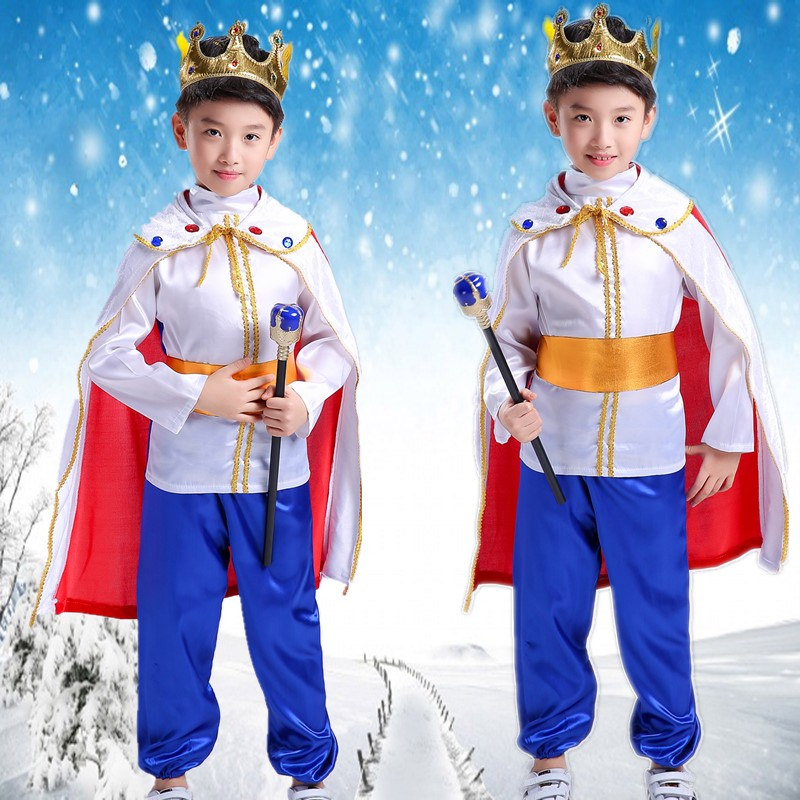 Prince's Clothes Children's Halloween Boys'Clothes King Cosplay costumes acting as costume show costumes