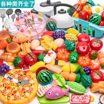 Childrens Play House Toys Kitchen Cut vegetables Pizza Cut Fruit Set Boy Girl Cake Cut joy gift
