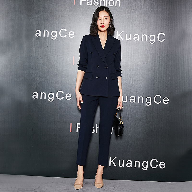 Spring new career suit Female suit suit temperament fashion high-end Korean formal interview work wear