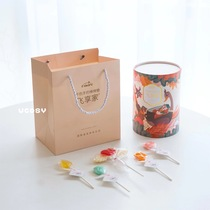 (Physical stock) Feixianjia New Year Gift Box Sugar-free tooth lollipop Childrens fruit flavor candy