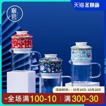 Ceramic kung fu tea set lazy automatic teapot 沖 tea machine glass fair cup Chinese wind creative gift box