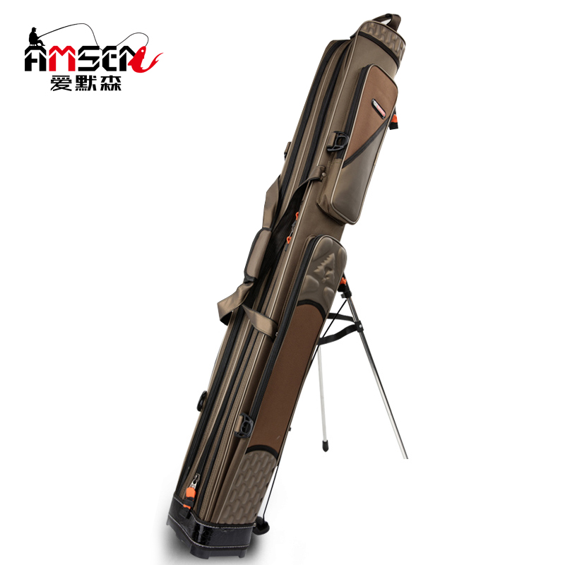 Fishing gear bag 1.2/1.25 m 2/3 layer fishing rod bag waterproof hard shell support bag special fish bag