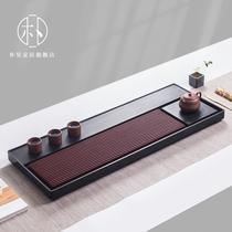 Park Hao Bakelite tea tray from Germany imported household simple Ujin Stone tea tray tea set drainage Taiwan electric Bakelite tea table