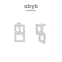 abyb Charming niche earrings High-end sense of courage square drop earrings Wild temperament fashion wind earrings