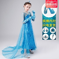 Frozen 2 Aisha princess dress Aisha princess dress women dress children Anna princess dress spring long sleeve