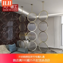 Tempered Changhong glass small household living room simple rotating hanging screen light luxury modern Nordic door screen partition