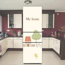 Refrigerator sticker Creative Cute sticker kitchen Decorative sticker Custom cartoon refurbished self-adhesive opaque waterproof film