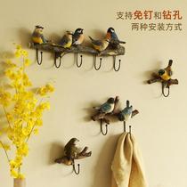 Creative oiseau crochet porte dentrée clé suspendus Vêtements Crochet Mur décoration poinçon mur mur vêtements chapeau crochet