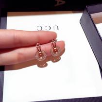 Circle earrings womens summer sterling silver Korean temperament net red 2021 new fashion design sense exquisite drop earrings simple