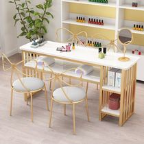 Nail art table and chair set net red simple single double workbench European-style economical nail shop chair ins style