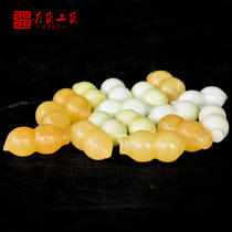 Pure natural beige jade peanuts are born alive and well with burial pieces long life and many children and grandchildren
