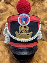 - Available in stock - 19th century hussars shako low - brimmed French military cap for real wear