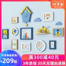 Children's room photo wall decoration album wall Simple photo frame wall combination creative photo wall for boys and girls bedroom