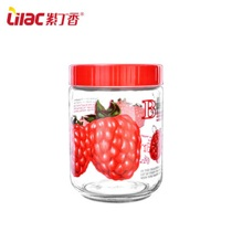 Lilac glass sealed cans grains storage cans milk cans glass bottles bubble wine bottles grain storage glass cans