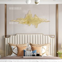 Modern home wrought iron wall Metal three-dimensional abstract mountain shadow hanging Hotel Club soft wall decoration pendant