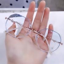 Встряхнуть тон маленькая красная книга с абзацем Жемчужная вспышка прилив близорукости очки женщины могут соответствовать степени без оправы алмазной оправы оправы очки
