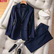 High-end suit suit female spring and autumn temperament college students professional work clothes senior sense suits formal wear autumn and winter