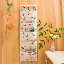 Storage bag hanging bag wall hanging pocket South Korea hanging cute wall-mounted door rear wall storage bag hanging wall locker bag