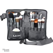 NYX portable Black Soft PU makeup brush bag storage bag Makeup Artist special makeup brush Waist Belt