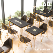 Gad Dracula yuan net red restaurant coffee shop dessert shop tea shop tables and chairs combination dining table tables and chairs