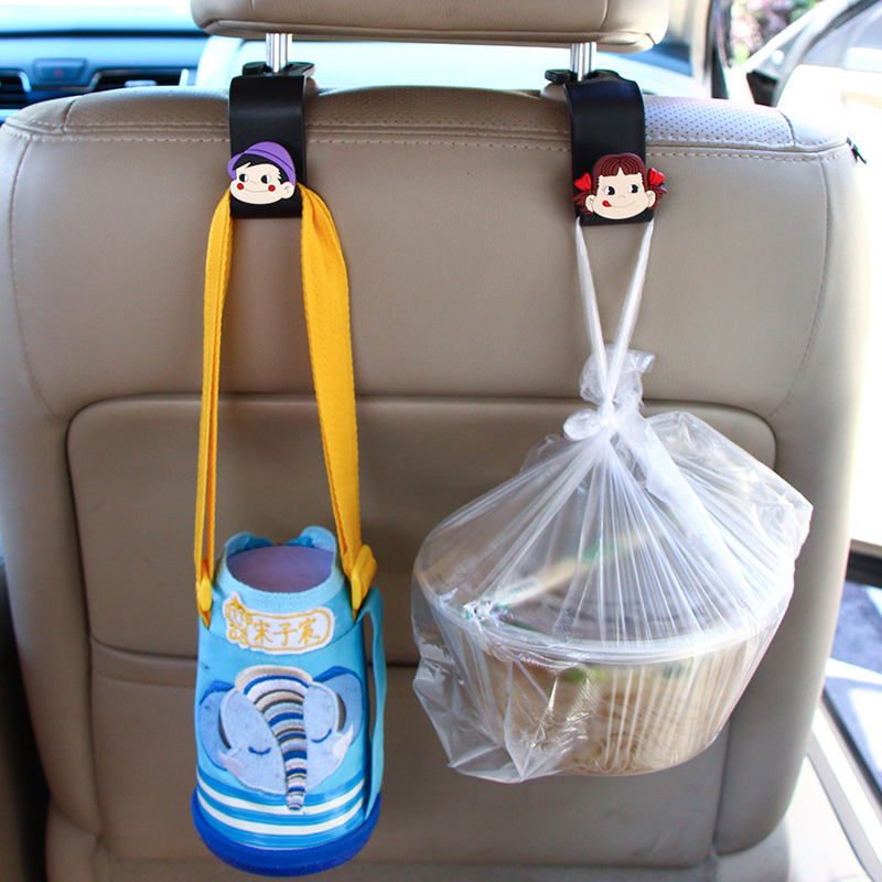 Front and rear car interior with car-hook rear seat back car multi-functional cartoon interior supplies