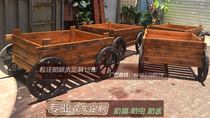 Solid wood Vending Car mobile wooden vending car park selling car scenic area wooden floats scenic floats