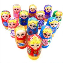 Wood dolls Russian dolls 5-layer color children dolls toys give girls lovely birthday gifts.