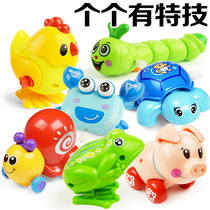 Children Baby wind up toys will run Small animals Baby young children wind up iron frog toys 0-1 years old