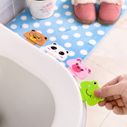 Home home toilet seat handle toilet portable flip device cartoon cover lifter toilet handle cover.
