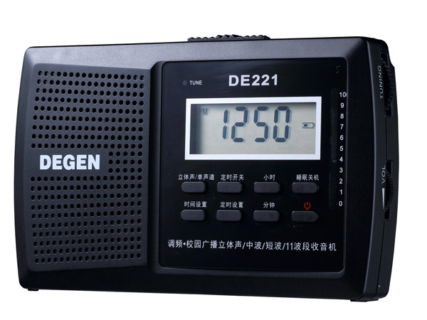 Degen/Dejin DE221 Campus FM Medium Wave Short Wave Digital Display Clock Controlled DSP Radio Clearing Price for the Elderly