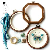 Di li li conception originale Décor À La Maison Bricolage perlé Bleu Papillon Broderie Mur décoration murale Broderie Matériel paquet