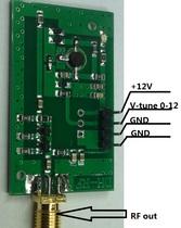 Oscillateur à tension RF oscillateur à fréquence large bande VCO 515MHz --- 1150MHz