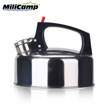 Outdoor kettle stainless steel 2L kettle camping self-Ming teapot portable coffee pot picnic kettle outdoor equipment