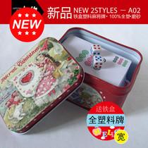Home travel portable plastic scrub waterproof thickened mahjong card mahjong poker silent mahjong card
