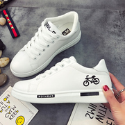 2017 new spring shoes Korean all-match thick white shoes leisure shoes shoes tide student movement