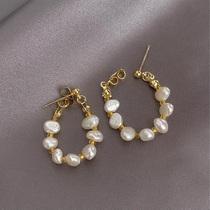 Hong Kong (designer)RVY 2021 new earrings womens wild simple pearl stud earrings temperament earring trend