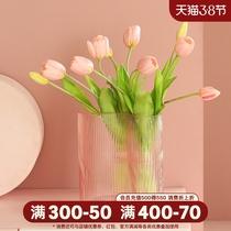 Скандинавская легкая роскошь нерегулярные стеклянные вазы творческие минималистские домашние гостиные цветочные украшения между цветочными вставками
